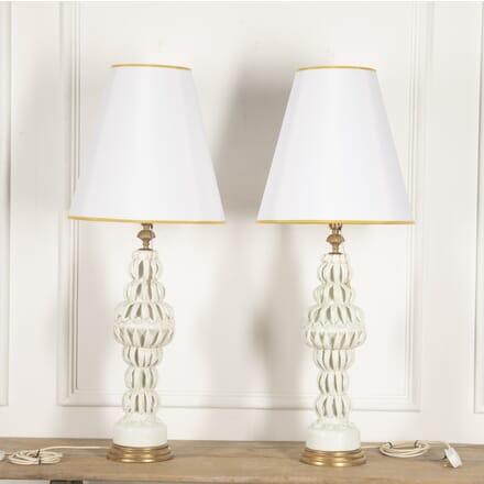 Pair of Spanish Ceramic Lamps LT3014770