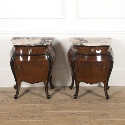 Pair of Italian Bombay Walnut Nightstands BD5216638