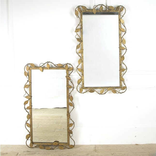 Pair of Italian Gilt Metal Mirrors MI489855