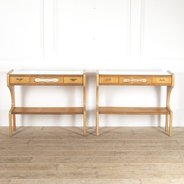 Pair of Italian Mid Century Console Tables CO4514153