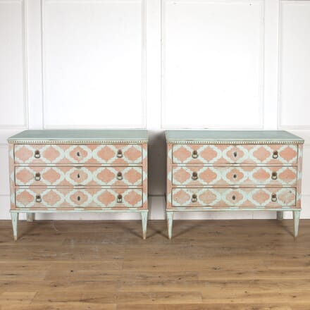 Pair of Italian Painted Commodes CC7914964