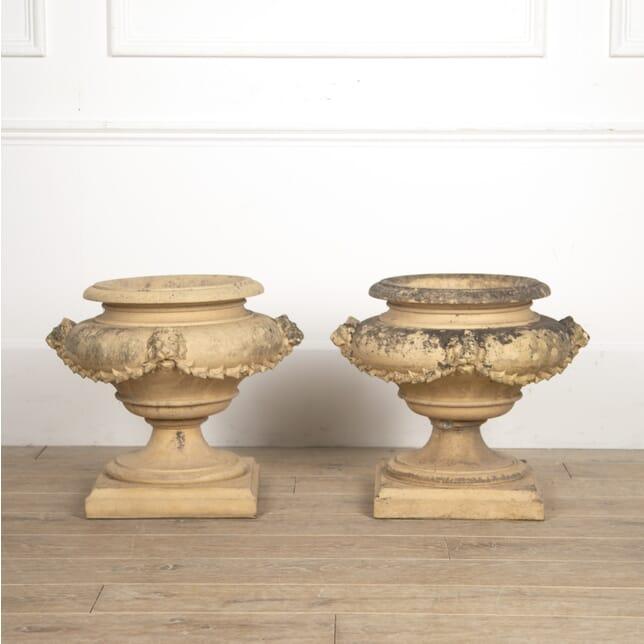 Pair of Terracotta Garden Urns by J. M. Blashfield GA0916039
