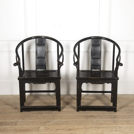 Pair of Chinese Lacquered Armchairs CH1316852