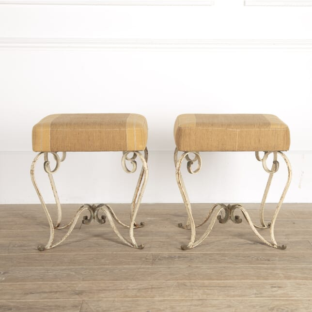 Pair of Lacquered Iron Stools ST3014430
