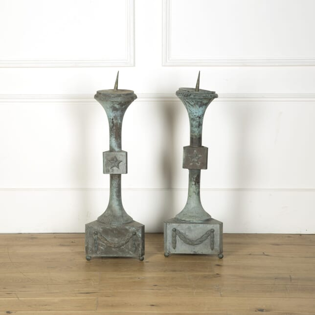 Pair of Large 18th Century Altar Pricket Candlesticks DA519756
