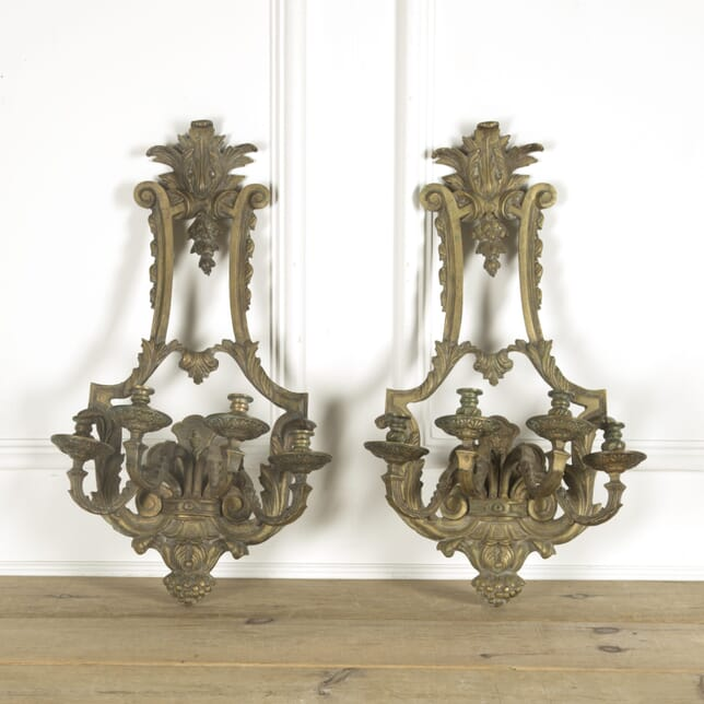 Pair of Large 19th Century Bronze Appliques LW159753