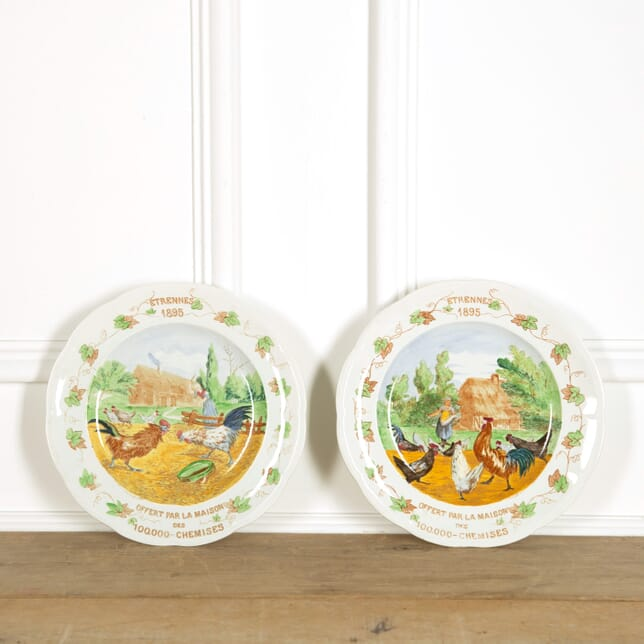 Pair of Large Advertising Plates DA159103