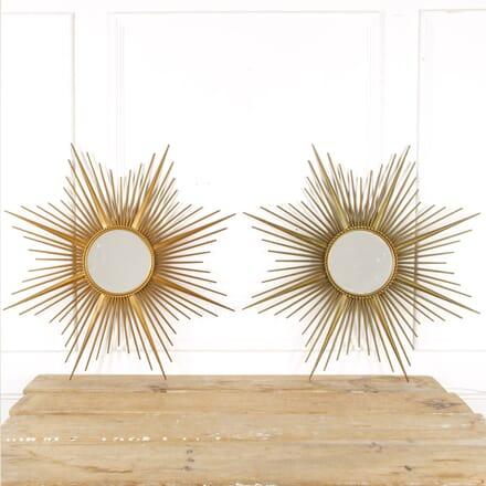 Pair Of Large Chaty Vallauris Sunburst Mirrors MI6016288