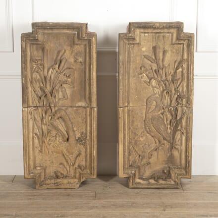 Pair of Large 20th Century Terracotta Panels GA0915171