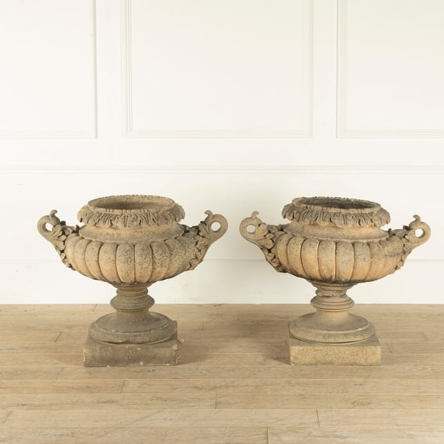 Pair Of Large James Pulham Garden Urns GA0911052
