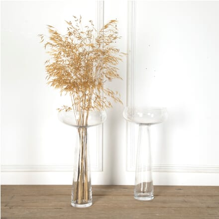 Pair of Large Mid 20th Century Clear Glass Vases DA5810562