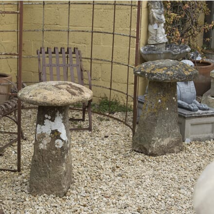 Pair of Large Natural Stone Staddle Stones GA4210090
