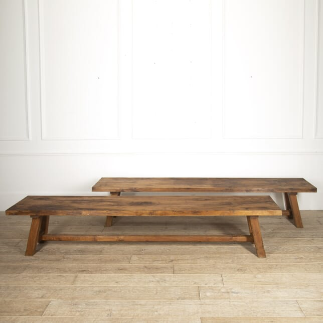 Pair of Large Oak Country House Benches SB8815673