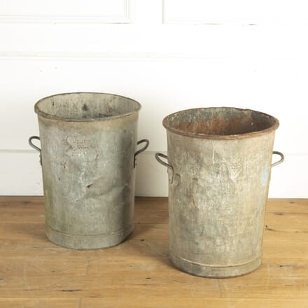 Pair of Large Metal Planters DA2014182