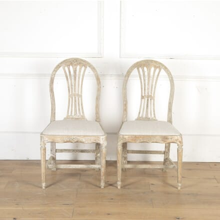 Pair of 18th Century Gustavian Side Chairs CH9014923