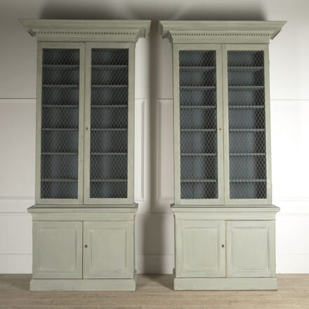 Pair of Late 18th Century Irish Bookcases CU0410356