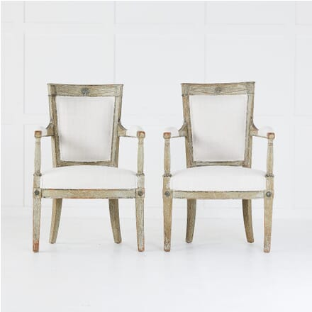 Pair of Late 18th Century Painted Armchairs CH0610374