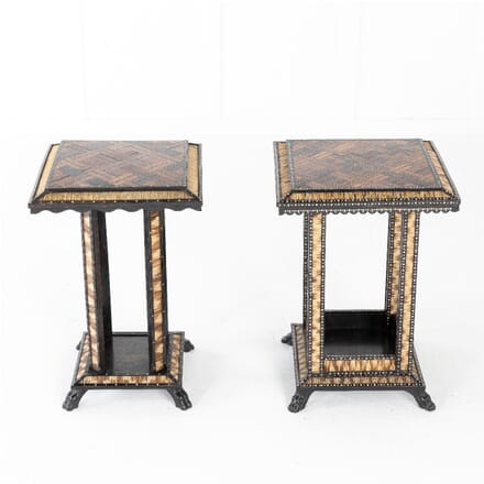 Pair Of Late 19th Century Ceylonese Porcupine Occasional Tables TC0611342