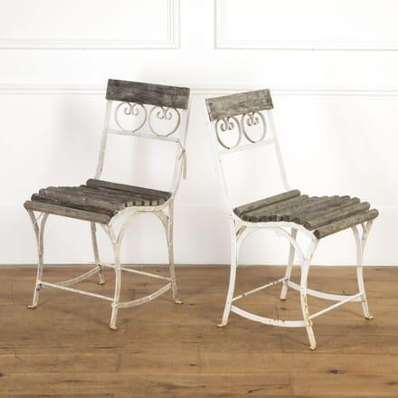 Pair of French 19th Century Garden Chairs GA9016840