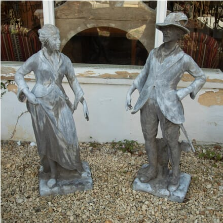 Pair of Late 19th Century Lead Statues GA4210725