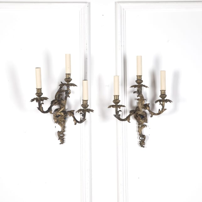 Pair of Late 19th Century Rococo Style Wall Lights LW9910290