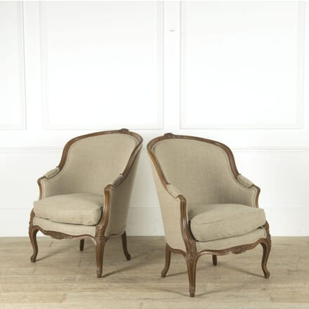 Pair of Late 19th Century Walnut Bergeres CH489859
