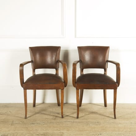 Pair of Leather Bridge Chairs CH159327