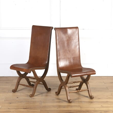 Pair of Spanish Slipper Chairs by Pierre Lottier CH4316143
