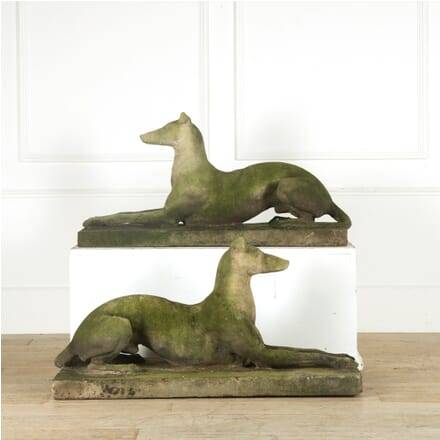 Pair of Life Size Composition Stone Greyhounds GA0910102