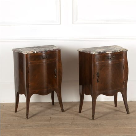 Pair of Louis XV Style Kingwood and Breche Violette Marble Night Stands BD8811373
