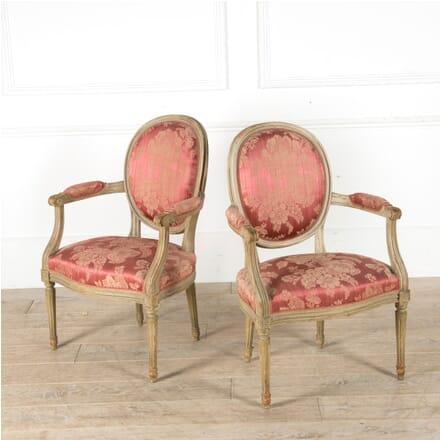 Pair of Louis XVI Revival Armchairs CH1510048