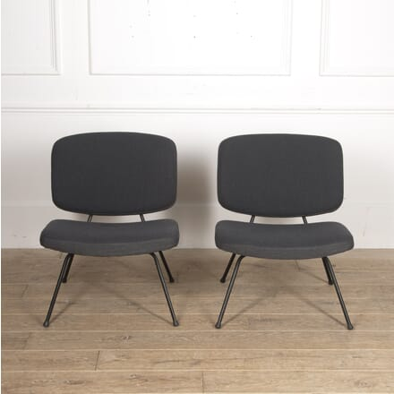 Pair of Low Chairs by Paulin and Thonet CH2915887