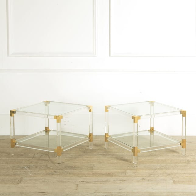 Pair of Lucite and Brass Tables CT309942