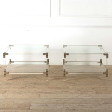 Pair of Lucite and Chrome Tables CT3011026