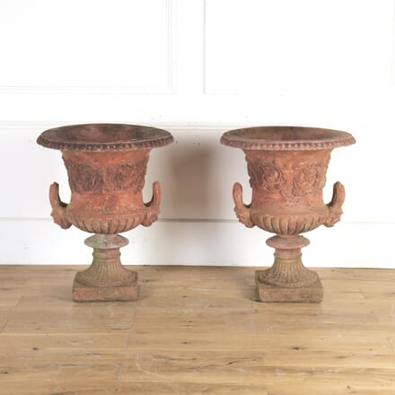 Pair of Magnificent Terracotta Style Neoclassical Urns GA8113762