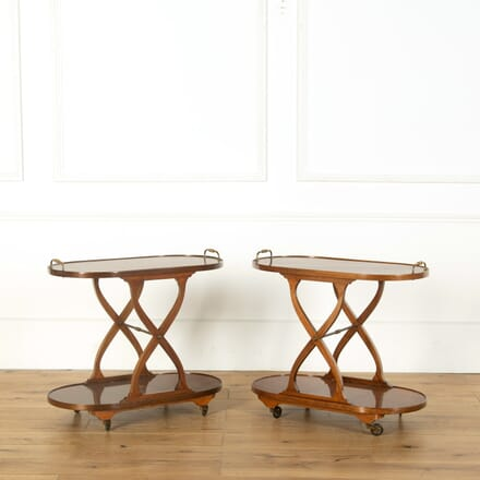 Pair of Mahogany Bar Carts TS359010