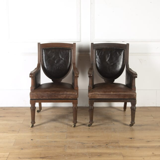 Pair of Mahogany Bergére Armchairs CH4714890