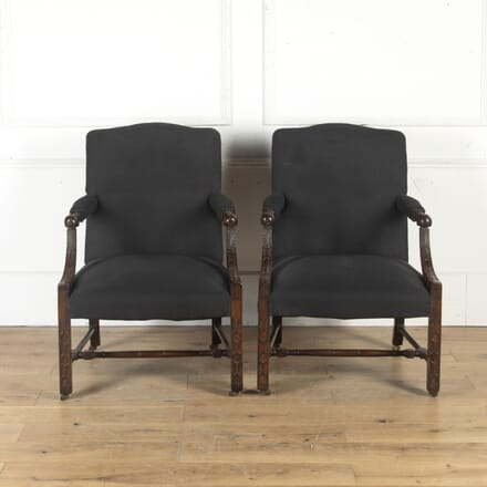 Pair of Mahogany Gainsborough Armchairs CH4714904