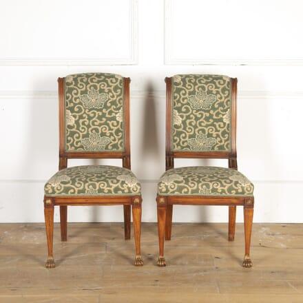 Pair of Mahogany and Gilt Chairs BD7914464