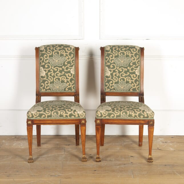Pair of Mahogany and Gilt Chairs BD7914464