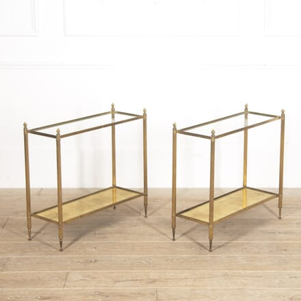 Pair of Maison Jansen Brass End Tables CO4516231