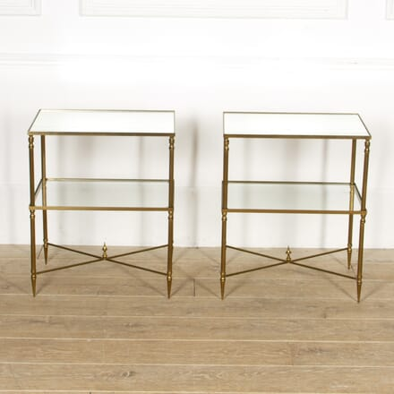 Pair of Maison Jansen Brass Side Tables CO4517391