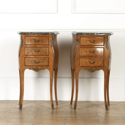 Pair of Marble Topped Bedside Cabinets BD8517322