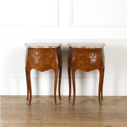 Pair of Marble Topped Bedside Cabinets BD8517321