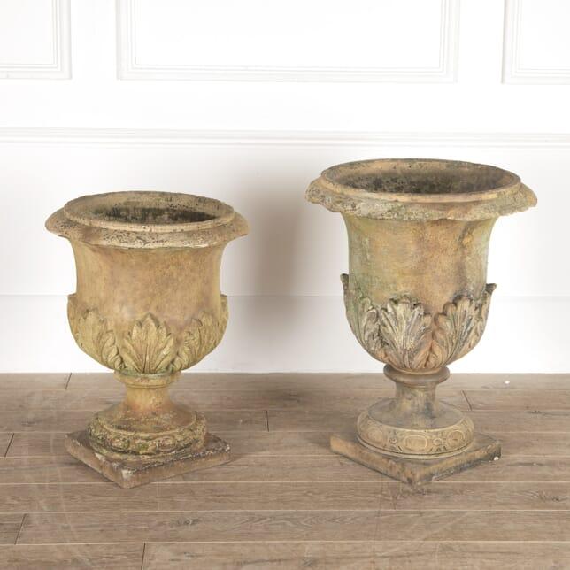 Pair of Doulton Terracotta Urns GA1114354