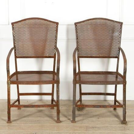 Pair of Iron Garden Chairs GA1317529