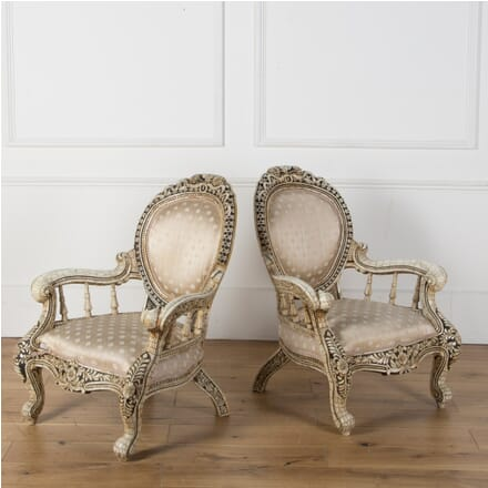 Pair of Mid 19th Century Anglo Indian Armchairs CH039980