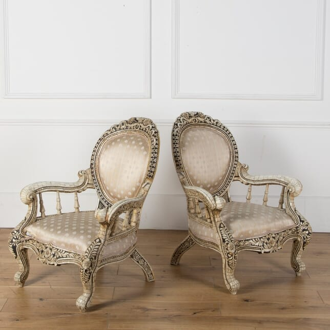 Pair of Early 20th Century Anglo Indian Armchairs CH039980