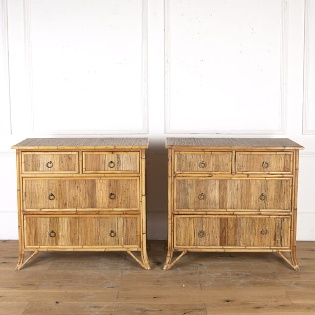 Pair of Mid Century Bamboo Chests CB2715591