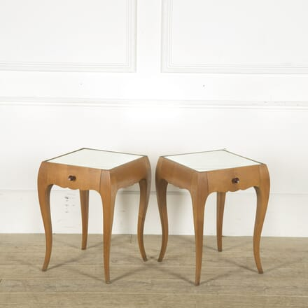 Pair of Mid Century French Mirrored Bedside Tables BD489856